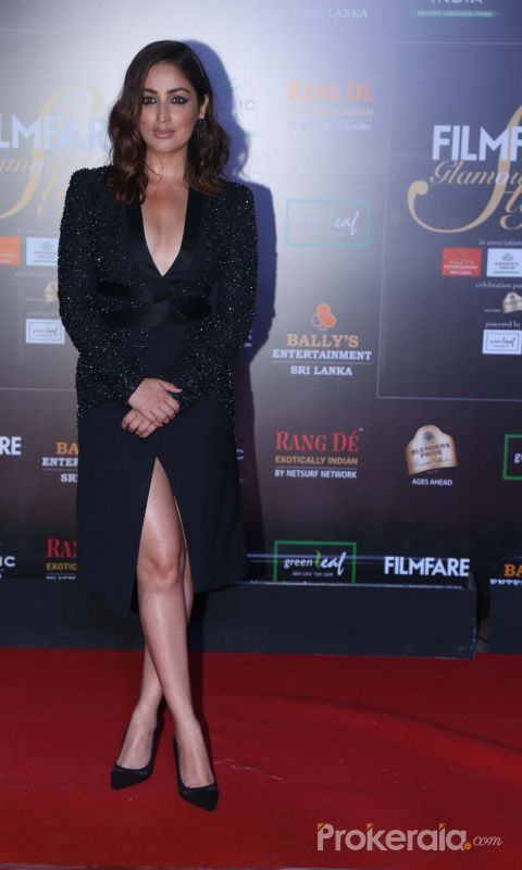Actress Yami Gautam in Filmfare Glamour And Style Awards 2019.