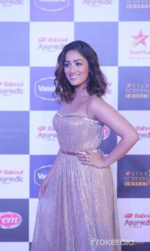 Actress Yami Gautam in Star Screen Awards at BKC.
