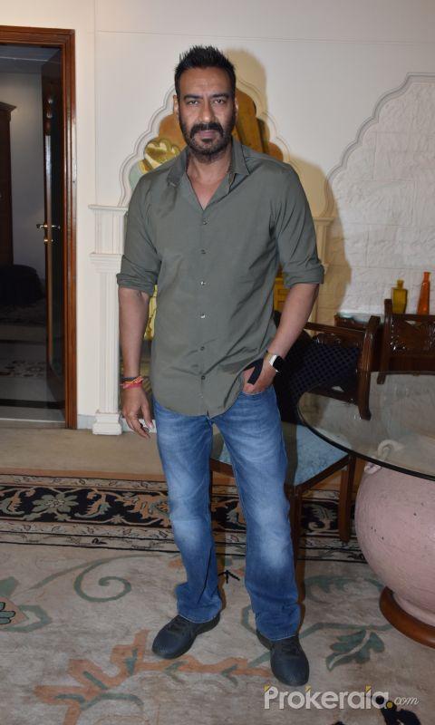 Ajay Devgan for the media interactions of Total Dhamaal at sun n sand juhu