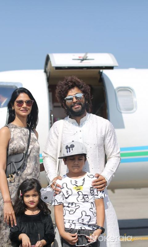 Allu Family off to Udaipur today to attend NiharikaK 's Wedding.