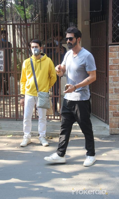Arjun Rampal Spotted At Dubbing Studio In Bandra