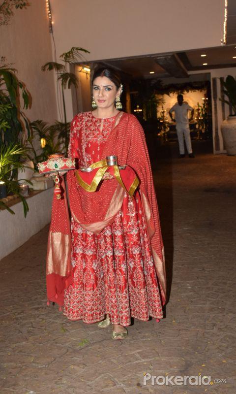 Raveena Tandon celebrate Karva chauth at Anil Kapoor's house in juhu