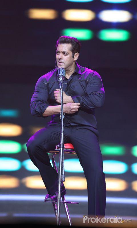 Actor Salman Khan during Da-bangg Tour Hyderabad