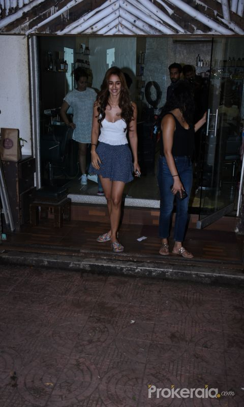 Disha Patani spotted at salon in bandra