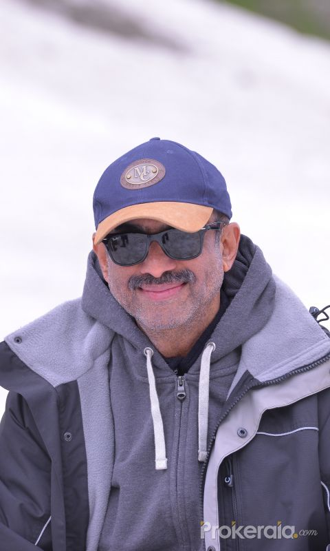 Actor Venkatesh in Shooting of Movie Venky Mama.