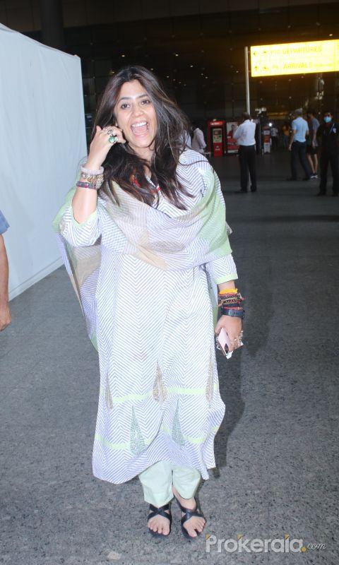 Ekta Kapoor spotted at airport arrival
