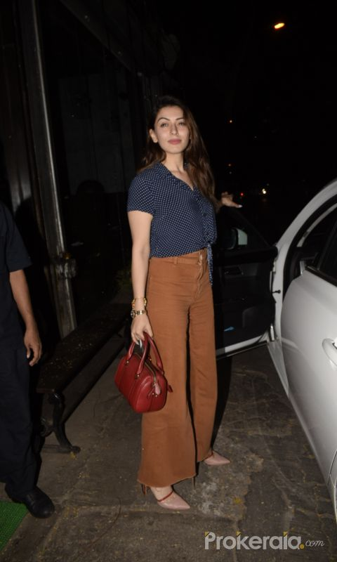 Hansika Motwane Spotted At Silver Beach Cafe In Juhu