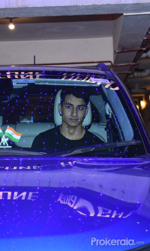 Ibrahim spotted at Saif Ali Khan's house in bandra for Diwali celebration