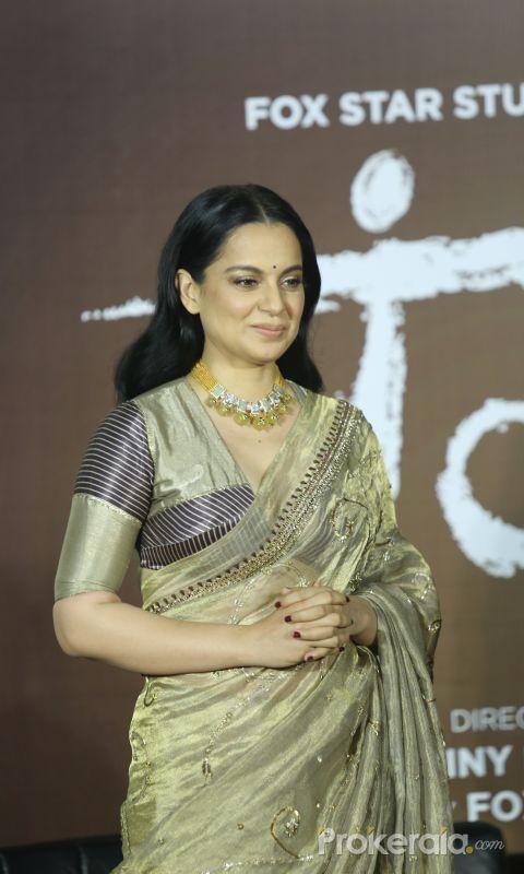 Actress Kangana Ranaut  at the trailer launch of film Panga.