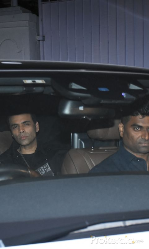 Karan Johar at Siddharth Malhotra birthday party.