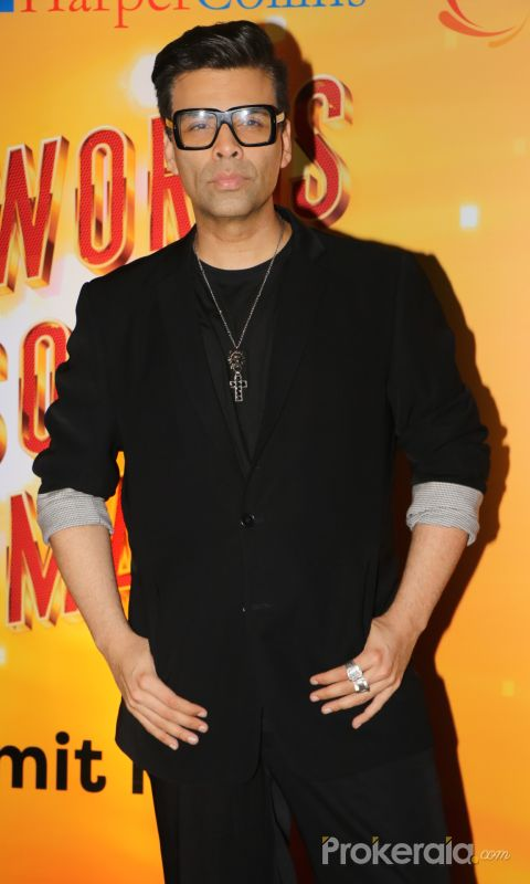 "Karan Johar at the Book Launch Of Author Amit Khanna ""Words Sounds Images"