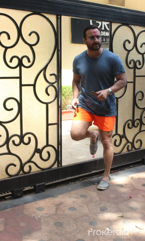 Actor Saif Ali Khan seen post Holi celebrations in bandra - photos