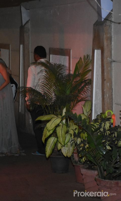 Actress Malaika Arora seen at Kareena Kapoor's house in bandra