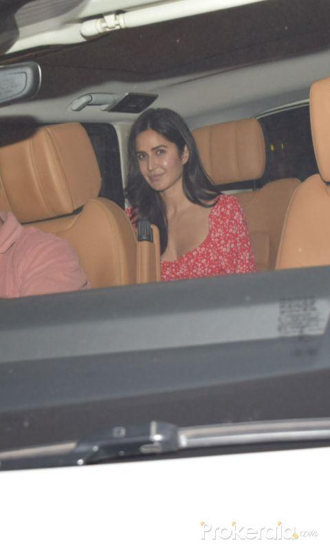 Actress Katrina Kaif seen at  Arti Shetty's house juhu