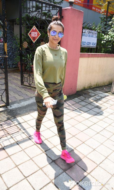 Malaik Arora spotted at diva yoga bandra
