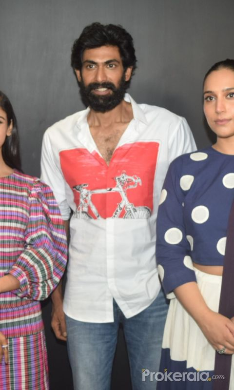 Shriya Pilgaonkar, Rana Daggubati and Zoya Hussain join Haathi Mere Saathi Movie Promotion At Eros Office in Andheri