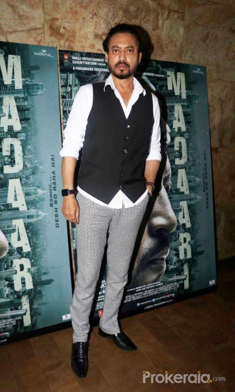 Irrfan Khan @ Madaari  movie Promotion Stills