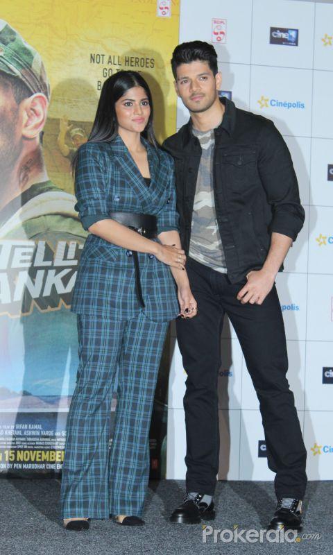 Megha Akash and Sooraj Pancholi @ Satellite Shankar Movie-Trailer Launch Event