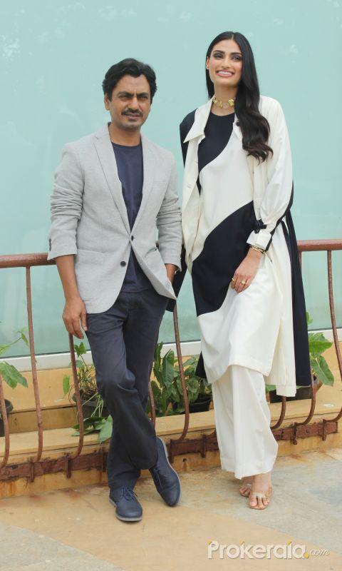 Nawazuddin Siddiqui And Athiya Shetty Spotted At Sun N Sand For The Movie Motichoor Chaknachoor