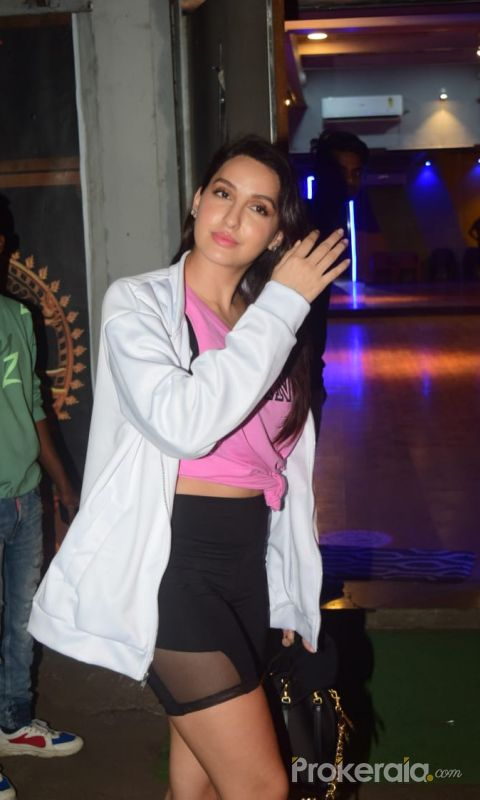 Nora Fatehi spotted at dance class in andheri