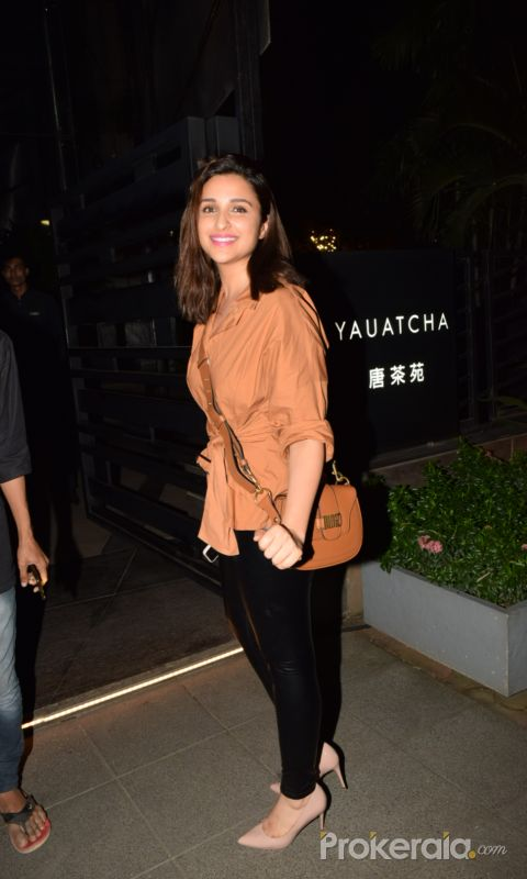 Parineeti Chopra spotted at Yauatcha,Bandra Kurla Complex