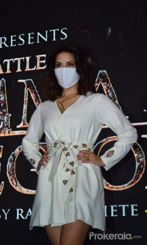 Poster Launch Of Film The Battle of Bhima Koregaon with Sunny Leone