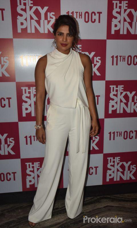 Priyanka Chopra at The Sky is Pink party at Escobar bandra