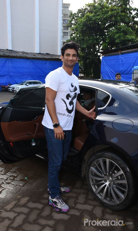 Sushant Singh Rajput for the promotions of film  Chhichhore at Mehboob studio in bandra