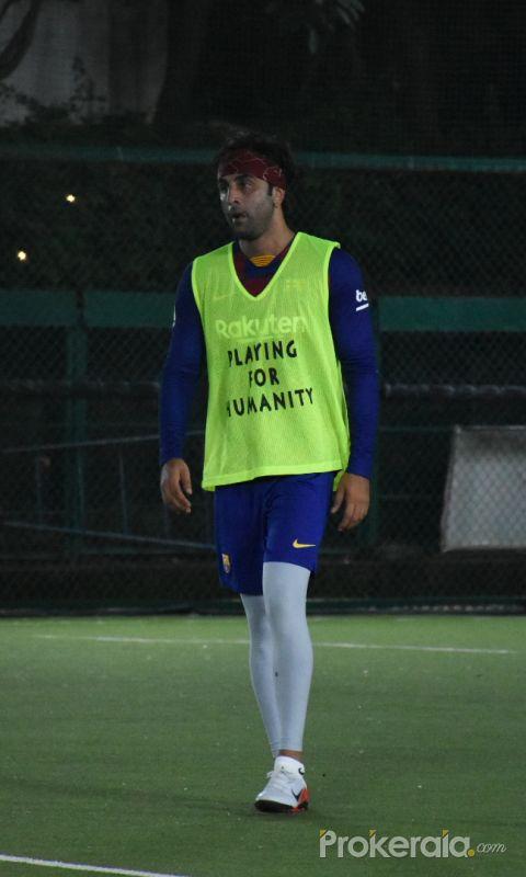 Ranbir Kapoor spotted at football ground in bandra