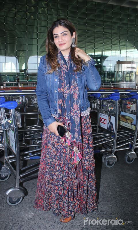 Raveena Tandon Spotted At Airport Departure
