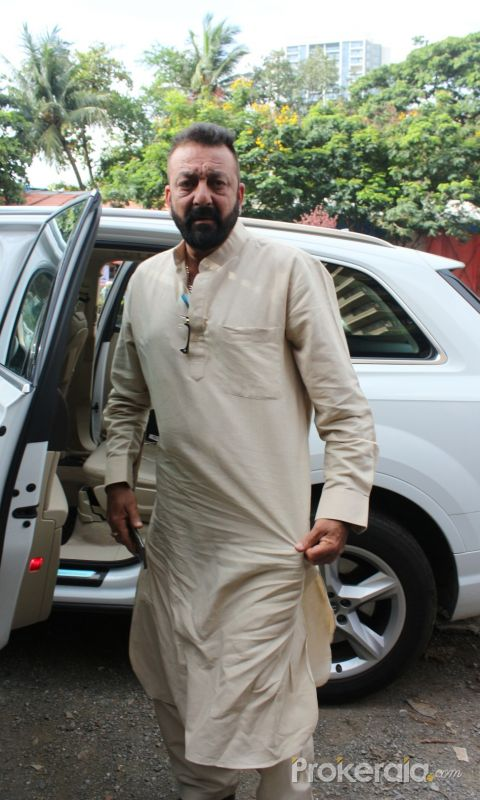 Sanjay Dutt At The Shoot For The Ganesh Aarti
