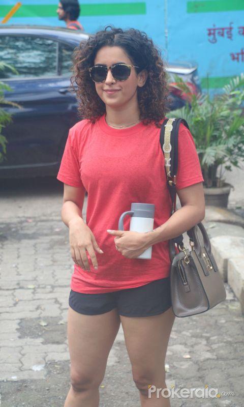 Sanya Malhotra spotted at andheri