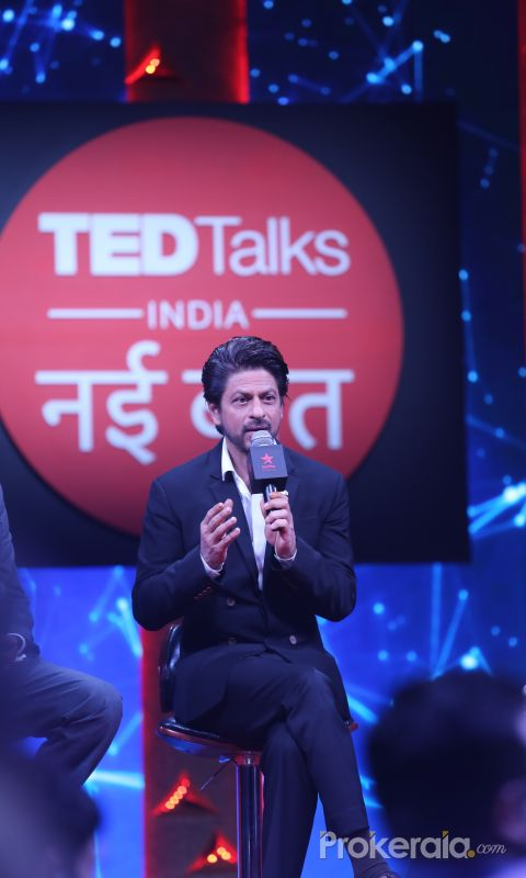SRK at the press conference of Ted Talks at Reliance studio filmcity goregaon