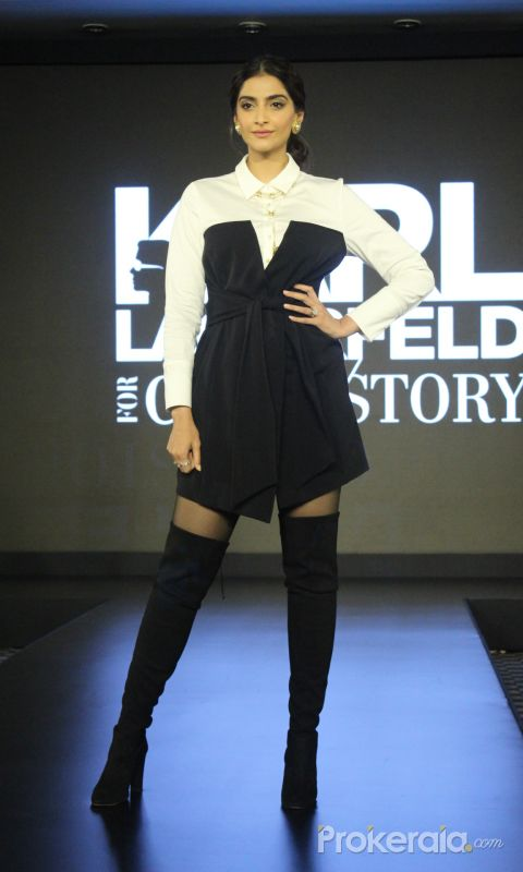 Sonam Kapoor Walks The Ramp For Launch Of Karl Lagerfeld's Cover Story Capsule Collection