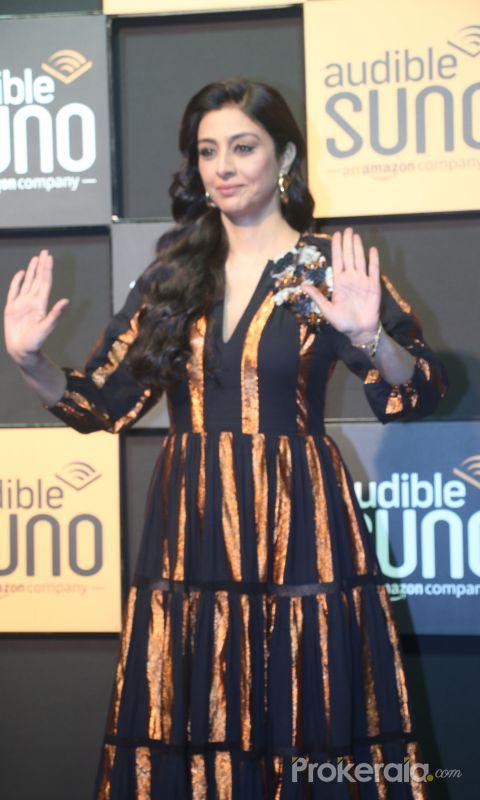 ActressTabu at the launch of Audible at famous studio in Mahalxmi.
