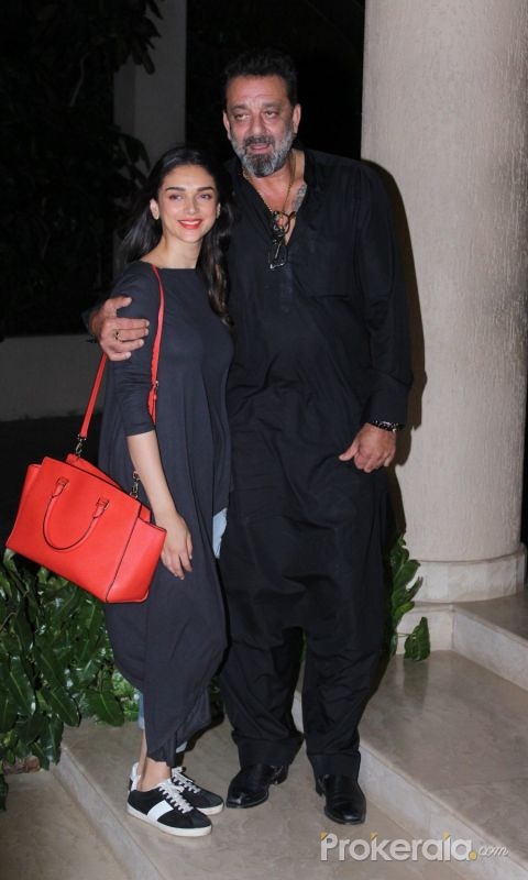 Aditi Rao Hydari and Sanjay Dutt attend Bollywood movie Team Of Bhoomi Celebrating The Completion Of Film