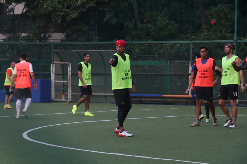 Actor Ranbir Kapoor Playing Football at Bandra.