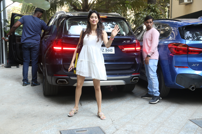 Actress Janhvi Kapoor spotted at Maddock films office in santacruz
