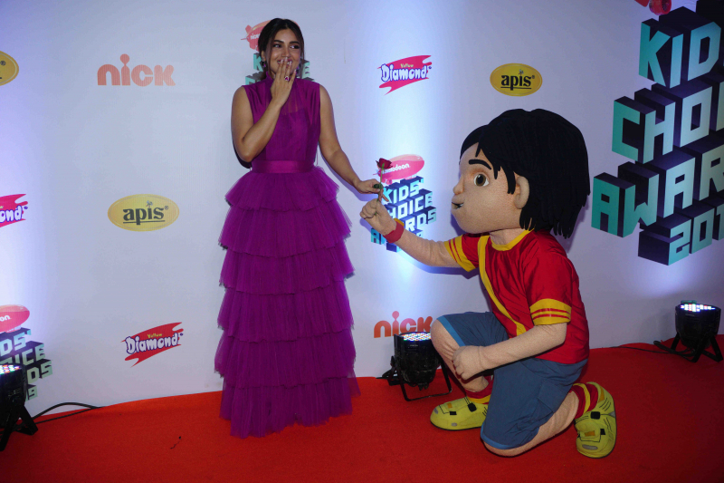 "Actress Bhumi Pednekar at Nickelodeon ""The Kids Choice Awards 2019 at film city goregaon"