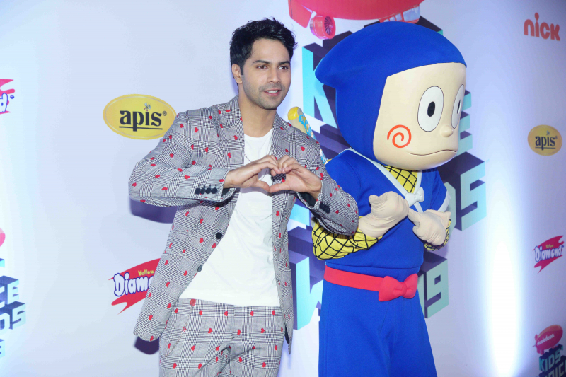 "Actor Varun Dhawan at Nickelodeon ""The Kids Choice Awards 2019 at film city goregaon."