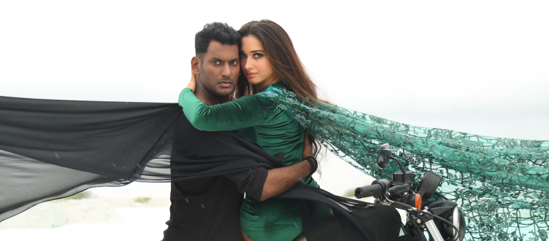 Vishal and Tamanna thier new Tamil Movie Action.
