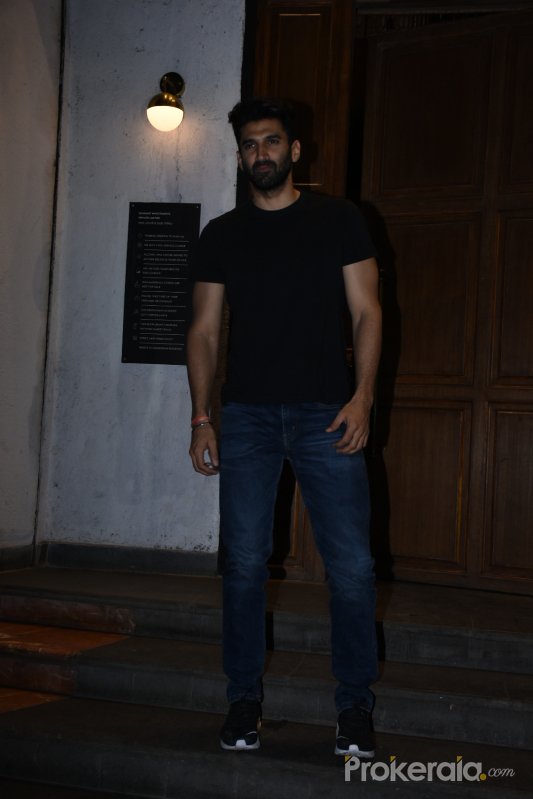 Actor Aditya Roy Kapoo seen at ministry of crabs in bandra