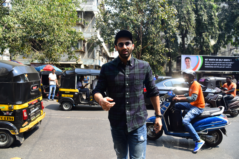 Actor Aditya Roy Kapoor at Malang starcast Pali village Cafe in bandra