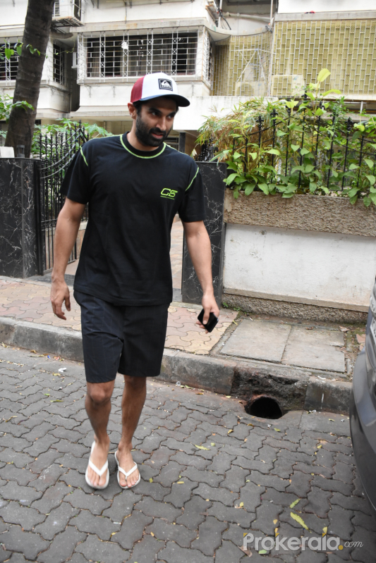 Actor Aditya Roy Kapoor Seen at Mohit Suri's office in bandra