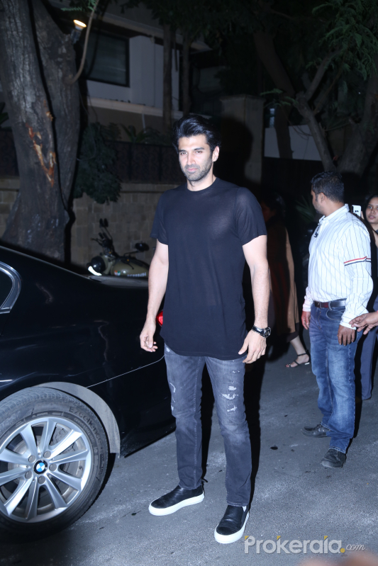 Actor Aditya Roy Kapur attend the Starcast of Malang at Anil Kapoor's house in juhu.