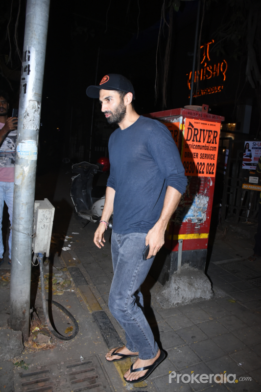 Actor Aditya Roy Kapur spotted at vishesh films office in bandra