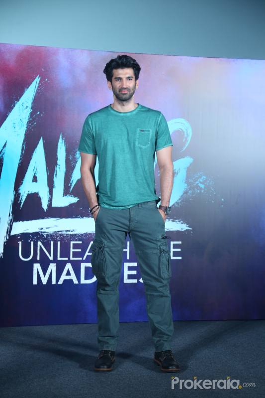 Actor Aditya RoyKapur in Trailer launch of film Malang at pvr juhu.