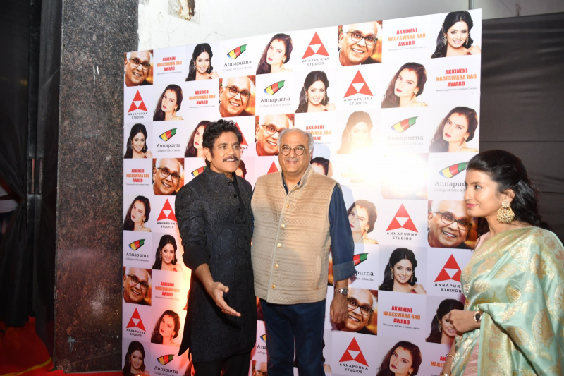 Actor Akkineni Nagarjuna and Boney Kapoor at ANR National Awards 2018-2019.