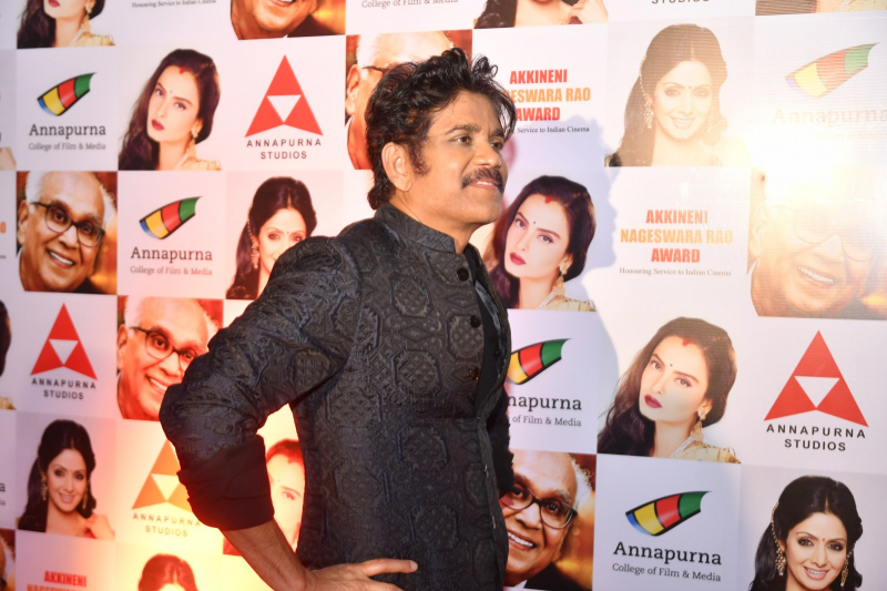 Actor Akkineni Nagarjuna at ANR National Awards 2018-2019.
