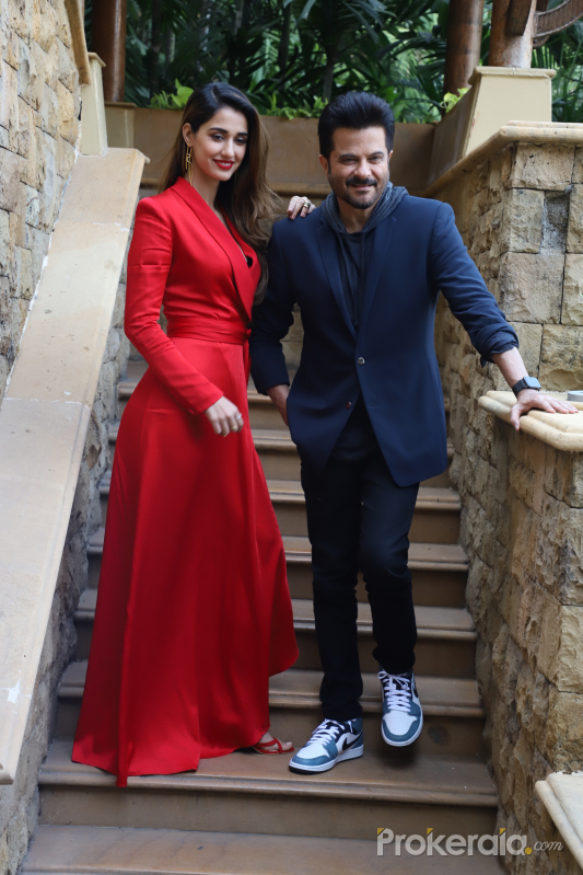Actor Anil Kapoor and Disha patani promoting their film Malang at jw marriot juhu